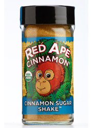 Red Ape Cinnamon Sugar, shaker jar