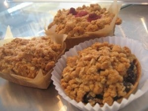 Coffee Cakes and Blueberry Ginger Cobbler