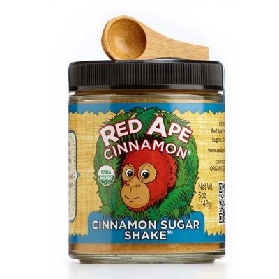 Cinnamon sugar wide mouth jar