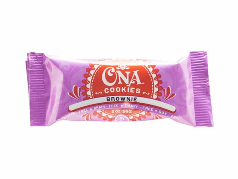 Ona brownie cookies package