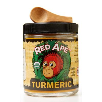 Turmeric wide mouth jar