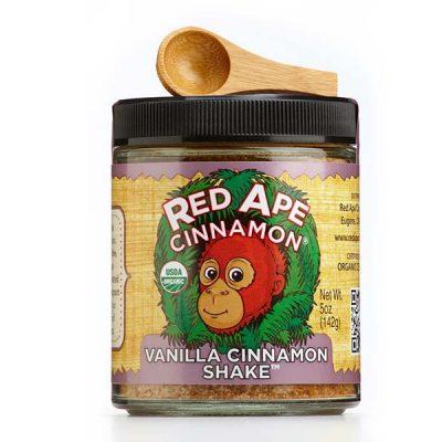 Vanilla cinnamon shaker jar