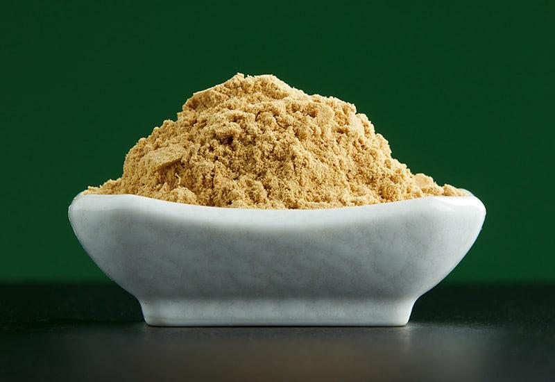 bowl of ground ginger